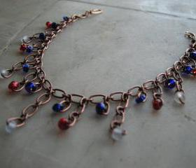 Dangle copper bracelet